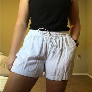 White Linen Blend Fabric Old Navy Shorts